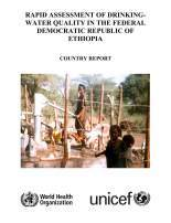 WHO UNICEF RADWQ Ethiopia Report