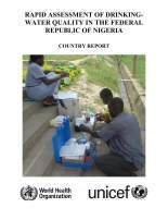 WHO UNICEF RADWQ Nigeria report